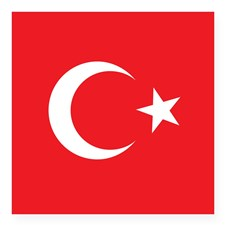 turkey_flag_square_sticker_3_x_3